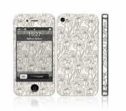 Iphone 4S White Flowers